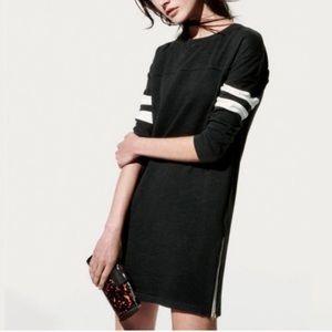 J.CREW Varsity Side Zip Dress Black Casual Dress